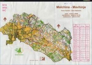 Orienteering-Malchina-carta