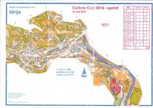 Cerkno-Orienteering-2014-Idrija-WA-map