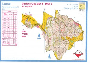 Orienteering-Cerkno-2014-Lome-WB-map
