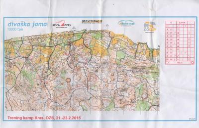 Carta orienteering Divaska jama (Lipica)