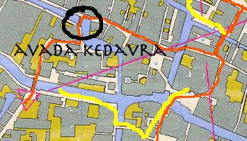 """Dettaglio iniziale del percorso WA della gara di orienteering """"VeNotte"""" 2015"""