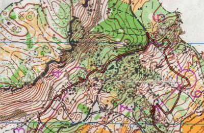 Tratte da 3 a 7 del percorso di orienteering WB della gara a Grivce di Lipica Open 2015